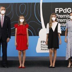 Los Reyes Felipe y Letizia, la Princesa Leonor y la Infanta Sofía en los Premios Princesa de Girona 2020 y 2021