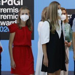 La Princesa Leonor y la Infanta Sofía en los Premios Princesa de Girona 2020 y 2021