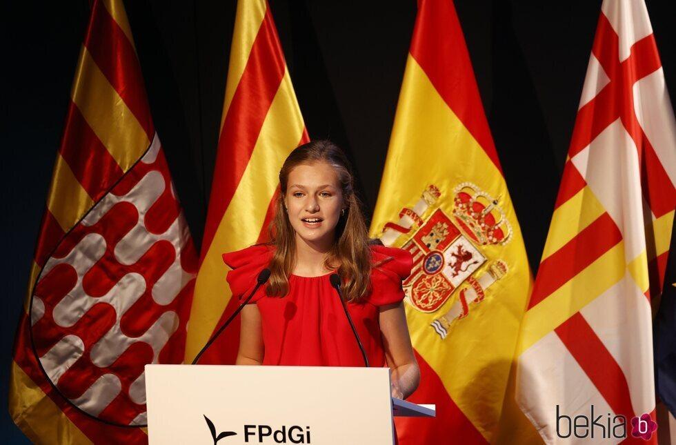 La Princesa Leonor da un discurso en los Premios Princesa de Girona 2020 y 2021
