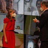 El Rey Felipe aplaude a la Princesa Leonor en los Premios Princesa de Girona 2020 y 2021