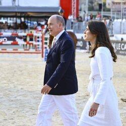Alberto de Mónaco y Carlota Casiraghi en el Concurso de Saltos de Monte-Carlo 2021