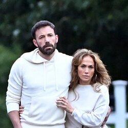 Ben Affleck y Jennifer Lopez durante unas vacaciones en Los Hamptons