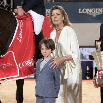 Carolina de Mónaco y Raphaël Elmaleh en el Concurso de Saltos de Monte-Carlo 2021