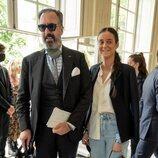 Jaime de Marichalar y su hija Victoria Federica en el desfile de Alta Costura de Dior Otoño/Invierno 2021