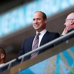 El Príncipe Guillermo en el partido entre Inglaterra y Dinamarca en la semifinal de la Eurocopa 2020