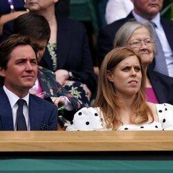Beatriz de York y Edoardo Mapelli Mozzi en Wimbledon 2021