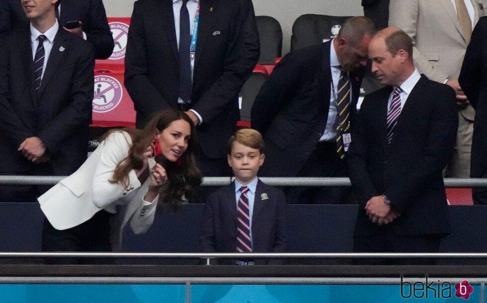 El Príncipe Jorge y los Duques de Cambridge en la final de la Eurocopa 2020