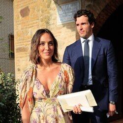 Tamara Falcó e Íñigo Onieva en la boda de Felipe Cortina y Amelia Millán