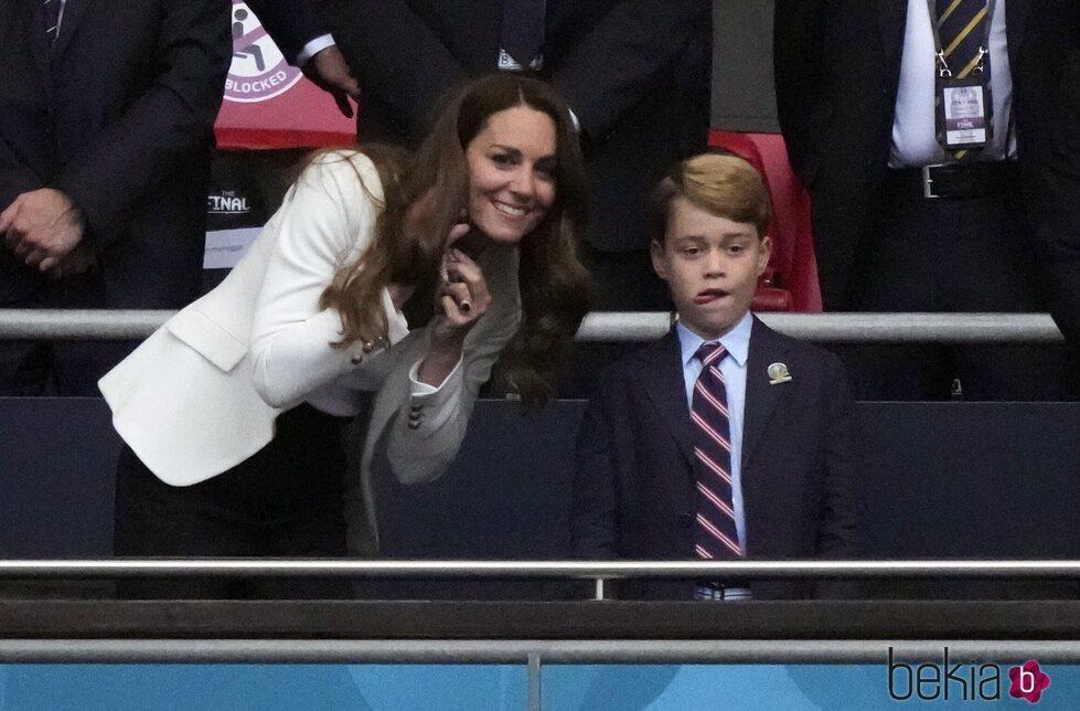Kate Middleton y el Príncipe Jorge en la final de la Eurocopa 2020
