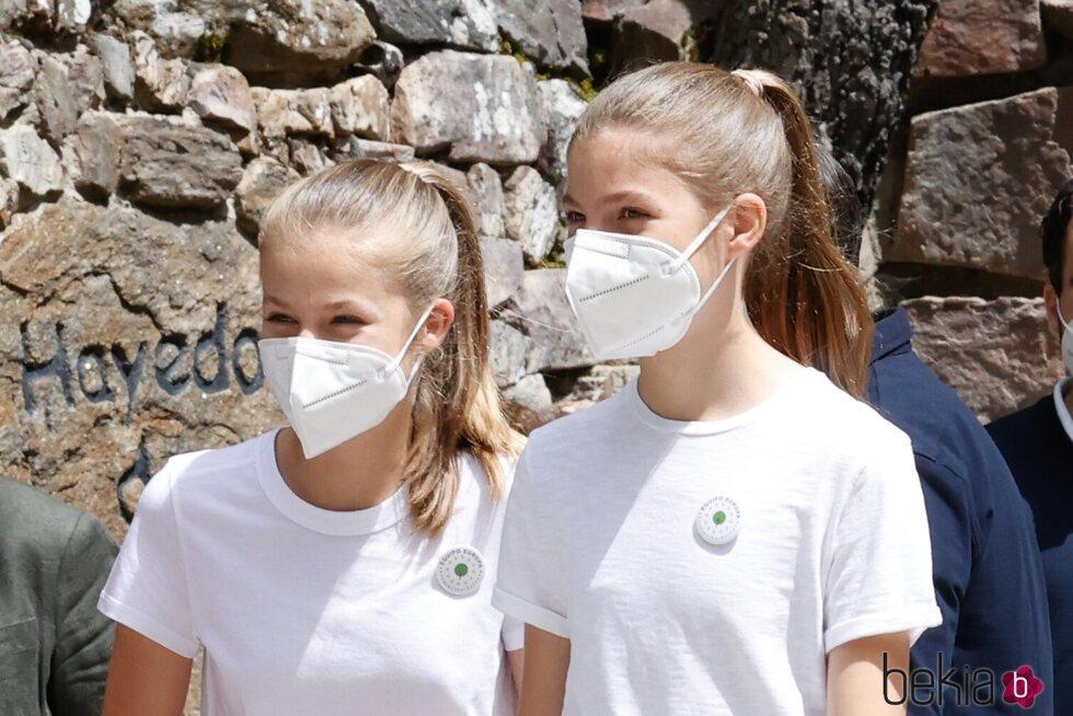 La Princesa Leonor y la Infanta Sofía acuden al acto del programa europeo #UNÁRBOLPOREUROPA en el Hayedo de Montejo