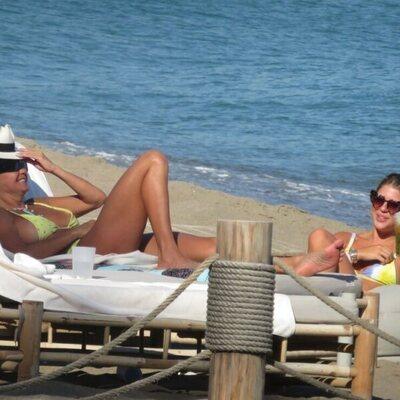 Makoke y Anita Matamoros disfrutando de sus vacaciones en Marbella