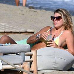 Anita Matamoros disfrutando en Marbella