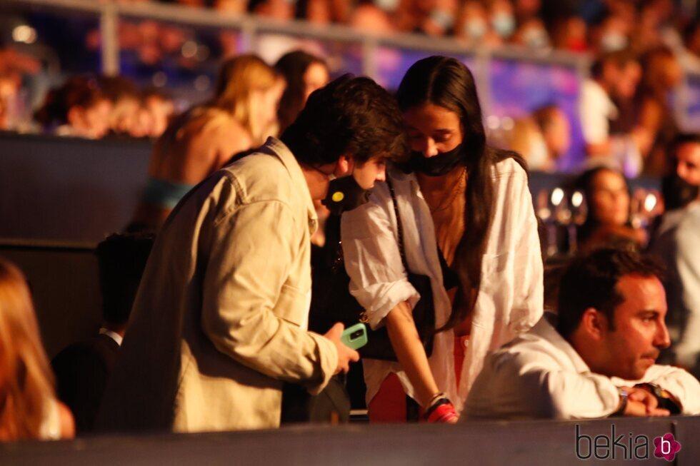Victoria Federica y Jorge Bárcenas en el concierto de Nicky Jam en el Starlite Festival 2021