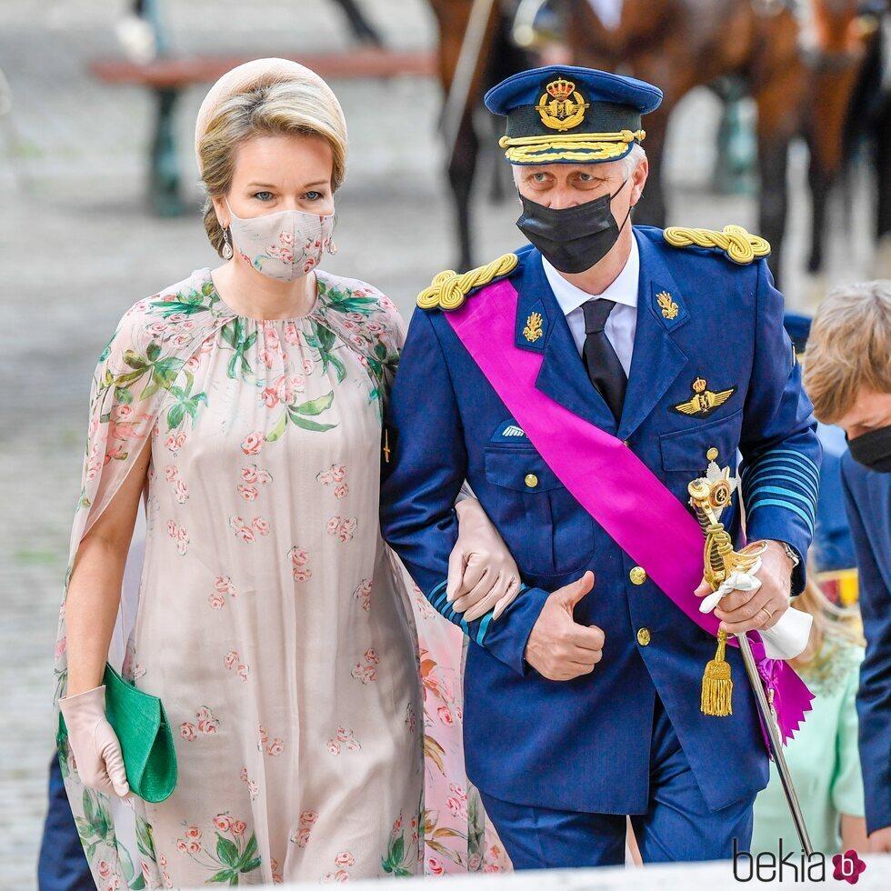 Felipe y Matilde de Bélgica en el Día Nacional de Bélgica 2021