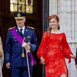 Felipe de Bélgica e Isabel de Bélgica en el Día Nacional de Bélgica 2021