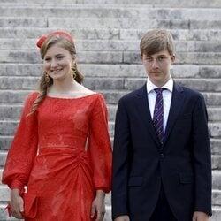 Isabel de Bélgica y Emmanuel de Bélgica en el Día Nacional de Bélgica 2021