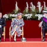 Laurent de Bélgica con Delphine de Bélgica y James O'Hare en el Día Nacional de Bélgica 2021