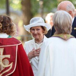Sonia de Noruega en el servicio por el décimo aniversario del atentado de Utøya