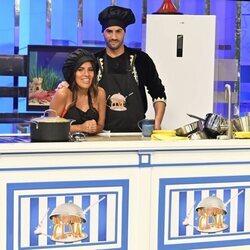 Isa Pantoja y Asraf Beno en 'La última cena'