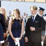 Ingrid Alexandra y Sverre Magnus de Noruega en el homenaje nacional por el décimo aniversario de los atentados de Oslo y Utøya