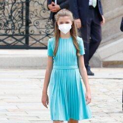 La Infanta Sofía en la Ofrenda al Apóstol en el Día de Santiago 2021
