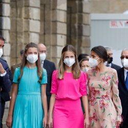 La Infanta Sofía, la Princesa Leonor y la Reina Letizia en la Ofrenda al Apóstol en el Día de Santiago 2021