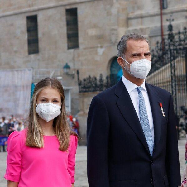 Los Reyes Felipe y Letizia, la Princesa Leonor y la Infanta Sofía en el Día de Santiago Apóstol 2021