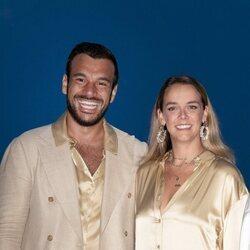 Pauline Ducruet y Maxime Giaccardi en la gala solidaria contra el SIDA