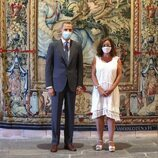 El Rey Felipe y Francina Armengol en la audiencia a las autoridades de Baleares