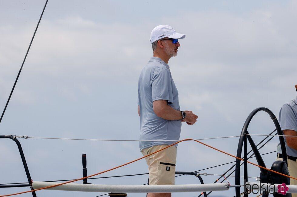 El Rey Felipe en el primer día de regatas de la Copa del Rey de Vela 2021
