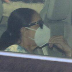 Isabel Pantoja en un coche en Madrid