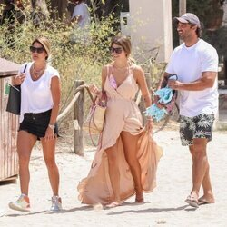 Makoke, Anita Matamoros y Nacho Santandreu en Ibiza