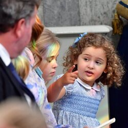 Adrienne de Suecia junto a Leonor de Suecia en el bautizo de Julian de Suecia