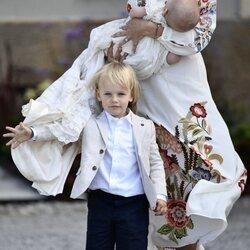 Gabriel de Suecia en el bautizo de Julian de Suecia