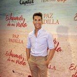 Omar Suárez en el estreno de la obra de teatro 'El humor de mi vida'
