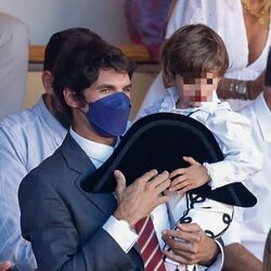 Cayetano Rivera con su hijo en la tradicional corrida Goyesca de Ronda 2021