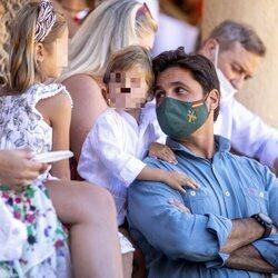 Fran Rivera con sus hijos Carmen y Curro en la tradicional corrida Goyesca de Ronda 2021