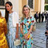 Tatiana Santo Domingo y Ekaterina de Hannover en la boda de María Anunciata de Liechtenstein y Emanuele Musini