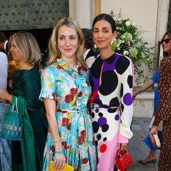 Ekaterina de Hannover y Sassa de Osma en la boda de María Anunciata de Liechtenstein y Emanuele Musini