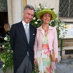 Guillermo y Sibilla de Luxemburgo en la boda de María Anunciata de Liechtenstein y Emanuele Musini