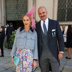 Elisabeth von Thurn und Taxis y Albert von Thurn und Taxis en la boda de María Anunciata de Liechtenstein y Emanuele Musini