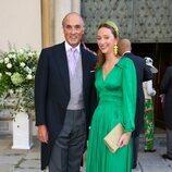 Lorenzo de Austria y Bélgica y su hija Laetitia Maria de Bélgica en la boda de Maria Anunciata de Liechtenstein y Emanuele Musini