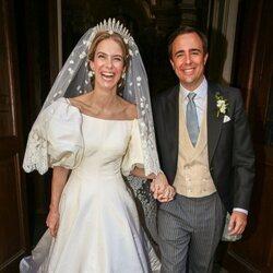María Anunciata de Liechtenstein y Emanuele Musini en su boda