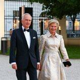 Christian de Habsburgo y Marie-Astrid de Luxemburgo en la celebración de la boda de María Anunciata de Liechtenstein y Emanuele Musini