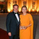 Guillermo y Stéphanie de Luxemburgo en la boda de María Anunciata de Liechtenstein y Emanuele Musini