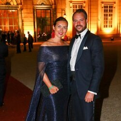 Félix y Claire de Luxemburgo en la boda de María Anunciata de Liechtenstein y Emanuele Musini