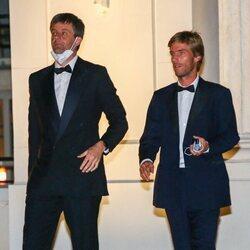 Ernesto Augusto y Christian de Hannover en la boda de María Anunciata de Liechtenstein y Emanuele Musini