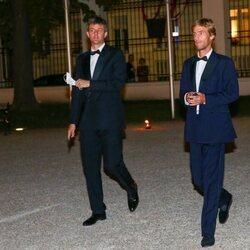 Ernesto Augusto de Hannover y Christian de Hannover en la boda de María Anunciata de Liechtenstein y Emanuele Musini