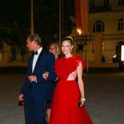 Pierre Casiraghi y Beatrice Borromeo en la celebración de la boda de María Anunciata de Liechtenstein y Emanuele Musini