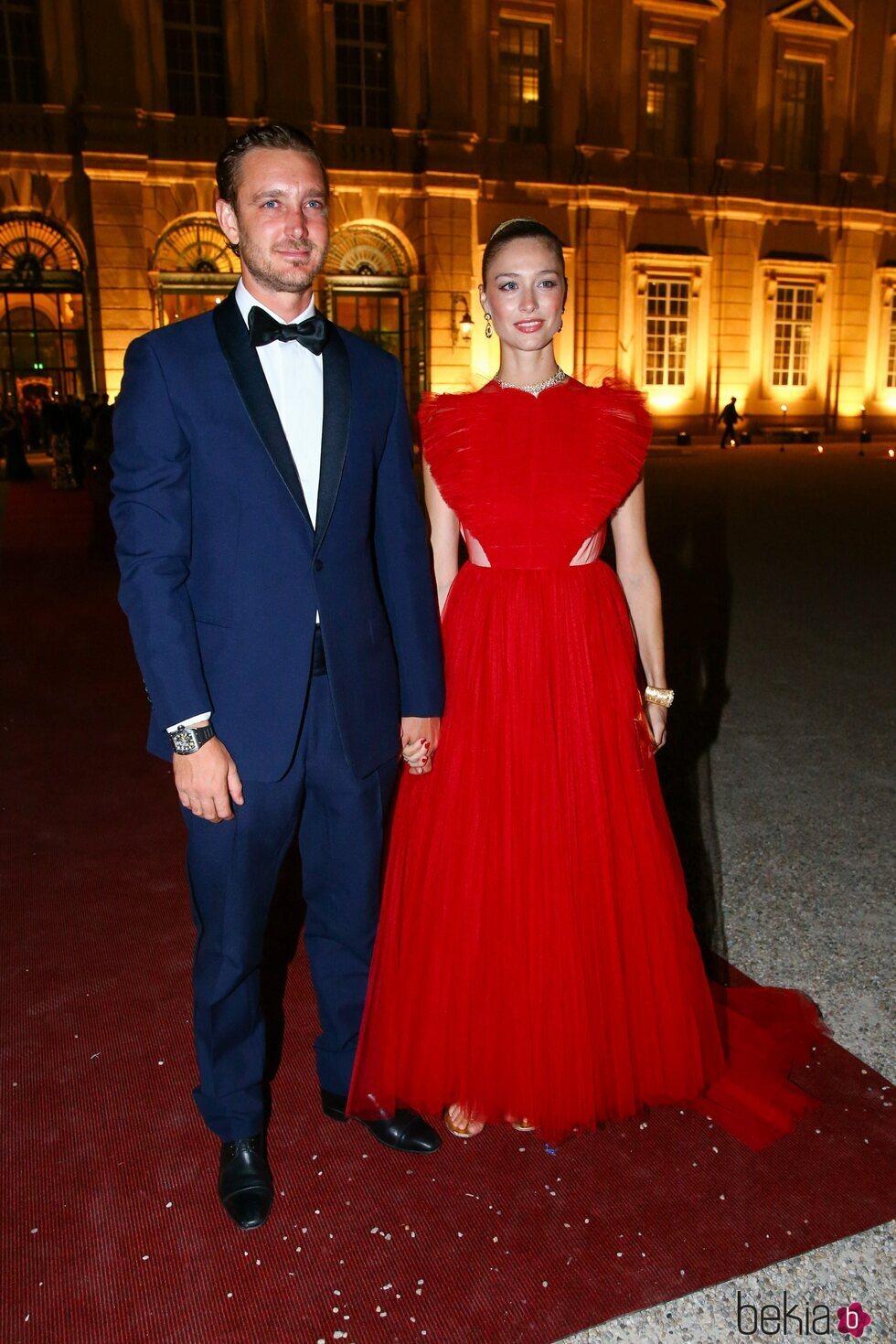Pierre Casiraghi y Beatrice Borromeo en la boda de María Anunciata de Liechtenstein y Emanuele Musini